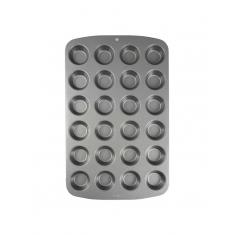 Αντικολλητικό Ατσάλινο Ταψί για 24 Μίνι Cupcake/Muffin της PME 35x26,5x2εκ.