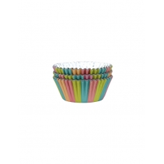 Cupcake Cases Foil Lined - Unicorn Colours Pk/30