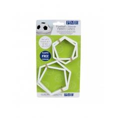 Football/Soccer Pattern Cutters set of 4