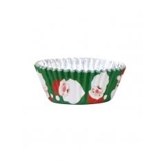 PME Christmas Santa Foil Cupcake Cases Pk/30