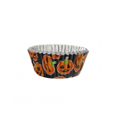 Halloween Petrifying Pumpkin Foil Cupcake Cases by PME Pk/30