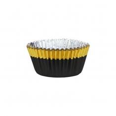 Μαύρο με Χρυσό -Αντικολλητικά καραμελόχαρτα αλουμινίου της PME 30τεμ.