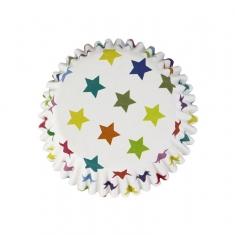 Αστέρια -Αντικολλητικά καραμελόχαρτα αλουμινίου της PME 30τεμ.