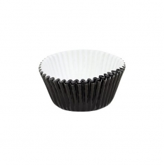 Cupcake Cases Foil Lined - Metallic Jet Black Pk/30