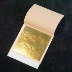 Βιβλιαράκι με 25 φύλλα Χρυσού 8x8 εκ. 23κτ