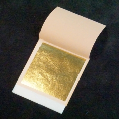 Edible Gold Leaves 80mm. 23kts. In a booklet of 25