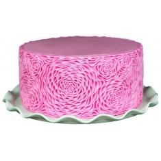 Βολάν Ροζέτες Τριαντάφυλλου Καλούπι της Marvelous Molds - Rosette Ruffle Simpress