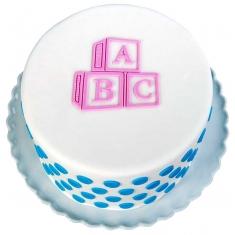 Κυβάκια ABC - Καλούπι της Marvelous Molds - ABC Blocks Silicone Onlay®