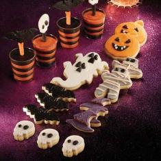 Σετ μεγάλα Κουπάτ Halloween 3τεμ. Φάντασμα - Μούμια - Κολοκύθα