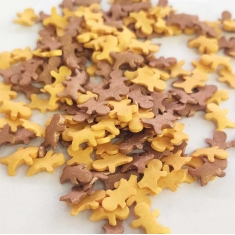 Sprinklicious Shiny Gingerman Mix Gold/Bronze 120g