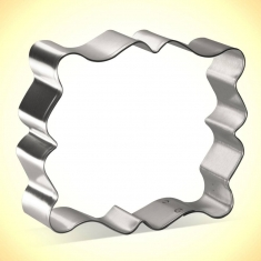 Fancy Rectangle Plaque Cookie Cutter 4 in