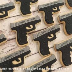 Hand Gun Cookie Cutter 4 in