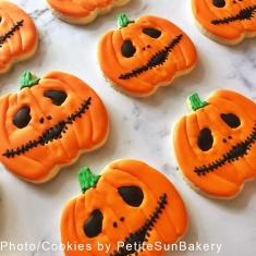 Πλακέ Κολοκύθα Halloween Μεταλλικό Κουπάτ Μπισκότου 9,5εκ.