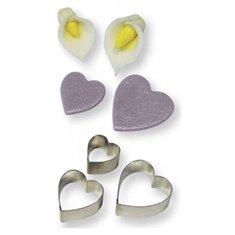 Heart Arum Lily Flow Petal Cutter Set 3