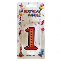 No.1 Colorful Fancy Birthday Candle (Box 12pcs)