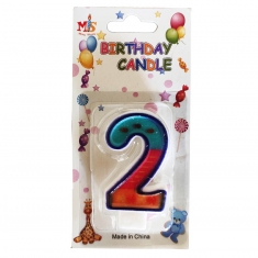 No.2 Colorful Fancy Birthday Candle