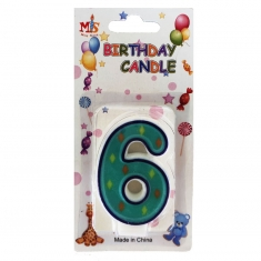 No.6 Colorful Fancy Birthday Candle (Box 12pcs)