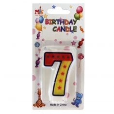 No.7 Colorful Fancy Birthday Candle (Box 12pcs)