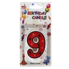 No.9 Colorful Fancy Birthday Candle (Box 12pcs)