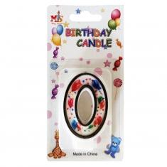 No.0 Colorful Baloon Birthday Candle (Box 12pcs)
