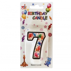No.7 Colorful Baloon Birthday Candle (Box 12pcs)