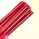 Solid Paper Straws Red Foil