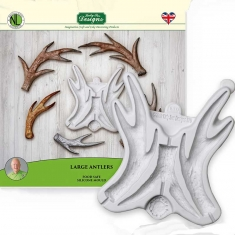 Large Antlers Silicone Mould by Katy Sue