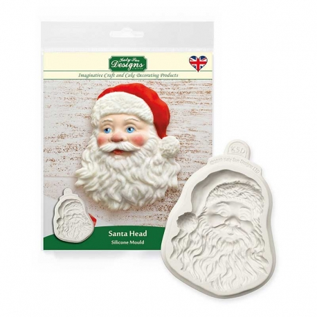 Santa Head Silicone Mould by Katy Sue