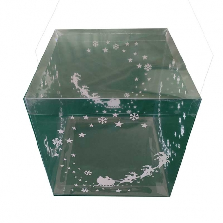 Printed Transparent Box 25xH26,5cm suitable for Xmas gingerbread house