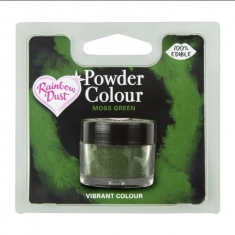 Moss Green Edible Powder Color by Rainbow Dust