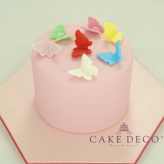 Cake Deco Butterflies in various colors (10pcs)