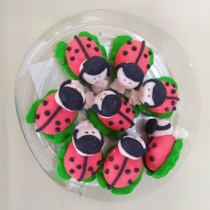 Easter Icing Decorations Lady Bug 8pcs