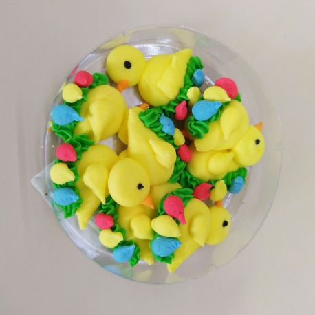 Easter Icing Decorations Yellow Chickies 8pcs