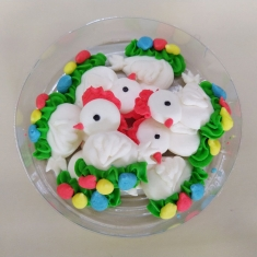 Easter Icing Decorations White  Chicks 8pcs