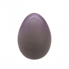 Lilac-Light Purple 300g Easter Egg made with White Belcolade Chocolate with Raspberry Aroma.