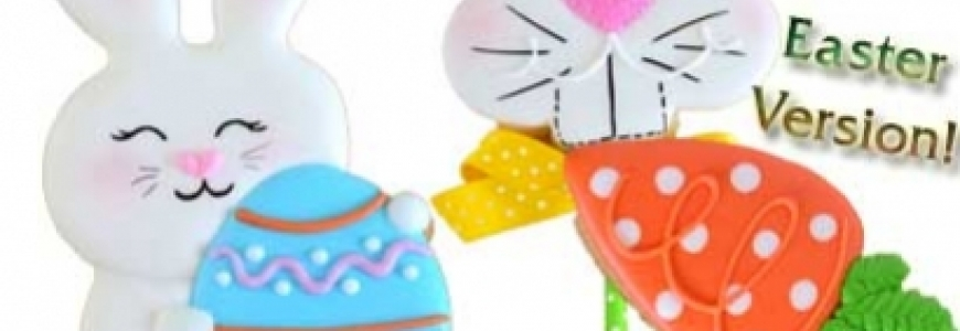 Icing Cookies with Easter Designs Decoration Seminar II
